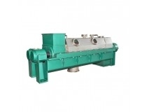 Double helix chain type dewatering machine